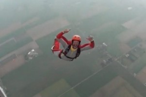Clear and pull skydive from the antanov at dropzone Texel The Netherlands