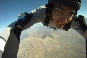 Video capture of a GoPRO skydive video