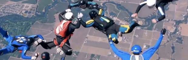 Really sharp footage from a Panasonic Lumix GH2 skydive video